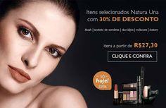PROMOÇÃO! Só nesta segunda, 22/06, desconto de 30% em maquiagem da linha Natura Una! Garanta já a sua! Acesse: www.redenatura.net/espaco/suellen_ga #maquiagem #makeup #natura #redenatura #promocao #desconto #sombra #blush #batom