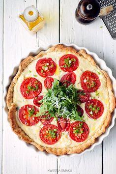 Tarta francuska z ricottą i pomidorami