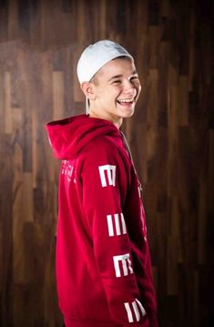 Red hoodie with the white MMers unite logo on the front. The official M&M burgendy unite hoodie. Skateboard, Mode Statements, Red Hoodie, To My Future Husband, Hoodies, Sweatshirts, Outfit, My Boys, Adidas Jacket