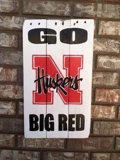 Nebraska Cornhuskers Go Big Red wall art by KristaLianeDesigns, $40.00