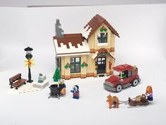 how to transport lego buildings for events Lego Christmas Sets, Lego Christmas Village, Lego Winter Village, Christmas Time, Lego Gingerbread House, Casa Lego, Lego Advent Calendar, Lego Worlds, Lego Models