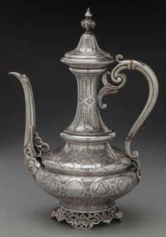 Froment-Meurice Silver Turkish Coffee Pot, Paris, France, circa 1880. Marked (Minerva), FROMENT-MEURICE.