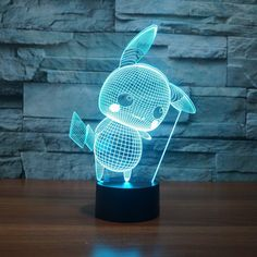 This Unbelievable Pikachu night light is an awesome edition to any desks, shelves and more! Used to craft this masterpiece is a acrylic piece and creates an Pokemon Go, Pikachu, Lampe 3d, Cheap Lamps, Touch Table Lamps, Led Desk Lamp, Nightlights, Led Night Light, Color Change