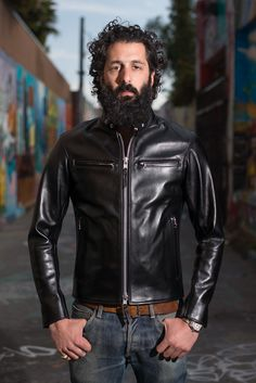 Iron Heart Horsehide Leather Jacket - Black Battle Edition - Self Edge