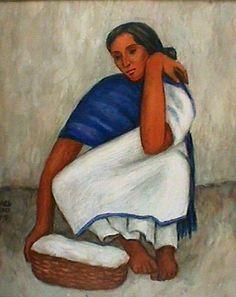 Mujer en Cuclillas 34 x 41 cms. Acuarela, 1993