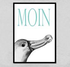 Wanddeko - Kunstdruck Moin - ein Designerstück von PapierMond bei DaWanda
