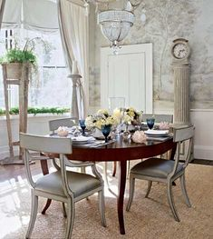 Leave my table dark and redo my chairs ivory with glaze?