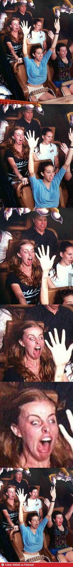 I don't think she likes roller coasters