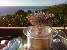 A Bouquet of Hearts - Wiring my Handmade original ArtGlass creations from home - Gazebo Studio View of Laguna Beach & the Pacific Laguna Beach, Gazebo, Glass Art, Original Art, Art Gallery, Sculptures, Bouquet, Hearts, The Originals