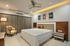3 BHK Flat Interiors, The living room has a different attribute towards designing with lavish furniture and artwork makes it contemporary SEE PROJECT>>> Apartment Design, Home, Bedroom Cupboard Designs, Bedroom False Ceiling Design, Modern Bedroom Interior, Modern Interior Design, Modern Bedroom, Flat Interior, Interior Design