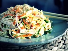 Vietnamese salad with cabbage, carrots and chicken. I can already vouch for this one - it's delicious.