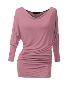 Product Name:Cowl Neck Plain Batwing Long Sleeve Type:PlainSleeve Type:Batwing SleeveSleeve:Long SleeveOccasion:BasicPackage Included:Top / NeckSeason:Autu Long Sleeve Tops, Long Sleeve Shirts, Cowl Neck Top, Loose Tops, Crop Tops, Look Cool, Types Of Sleeves, Cool Outfits, Clothes For Women