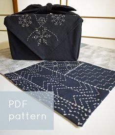 PDF sashiko pattern   simple sampler   modern by SakePuppets, $4.00