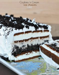Oreo Ice Cream Cake - Shugary Sweets