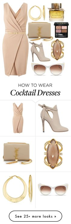 """A day to look good"" by pulseofthematter on Polyvore featuring Yves Saint Laurent, Miss Selfridge, Jimmy Choo, Henri Bendel, Ross-Simons, Burberry, Gucci, Thierry Lasry, women's clothing and women"