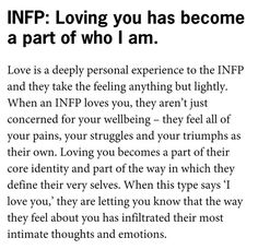 Ideas quotes love feelings infp for 2019 Infp Personality Type, Personality Psychology, Myers Briggs Personality Types, Psychology Facts, Infj Type, Infp Quotes, Introvert Quotes, Author Quotes, Qoutes