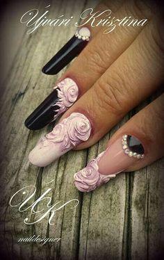 Гел лак Creative Nail Designs, Beautiful Nail Designs, Beautiful Nail Art, Creative Nails, Nail Art Designs, Bling Nails, 3d Nails, Swag Nails, Animal Nail Art