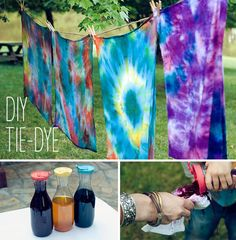 DIY Summer Tie-Dye Tutorial - No Rubber Bands and No Mess