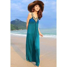 #RoseGal.com - #RoseGal Sequin Embellished Plunging Neck Maxi Dress - AdoreWe.com