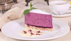 Leichte Low Carb Blaubeer-Joghurt-Torte