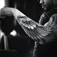 Amazing Mens Angel Wing Tattoo