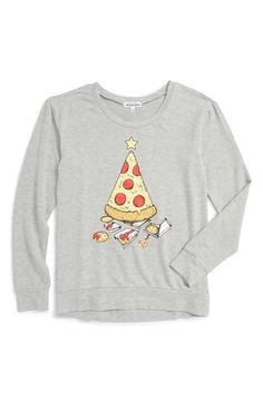 Ten Sixty Sherman Pizza Tree Graphic Sweatshirt (Big Girls)