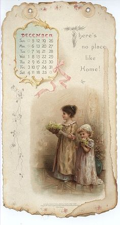HOME SWEET HOME CALENDAR FOR 1897 - TuckDB Ephemera