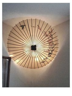 DIY Parasol light installation thingy
