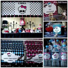 Monster High #monsterhigh #partyprintablestable styled by Four Little Birds Paperie Range by Party Printables by Akrivi