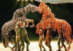 War Horse - life sized puppets for the stage production, first played at the National Theatre London