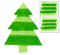 Art Projects for Kids: Tissue Paper Christmas Tree -- j'aimerais utiliser une autre forme que le sapin