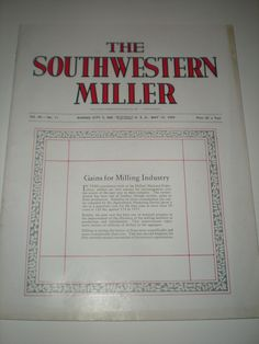 SOUTHWESTERN MILLER MAGAZINE MAY 12, 1959-OLD MILLING CO FLOUR GRAIN ADS