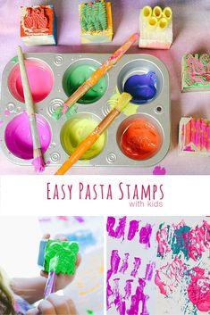 Make fun and easy DIY stamps with kids. via @handsonaswegrow