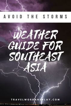 The best time to visit parts of Southeast Asia and how to avoid the monsoon. Guide to rainy season, hot season and cool season. Should you visit in high or low season? Which regions are sheltered from the storms? How long does it rain for in rainy season? What should I wear and which months should I visit? Weather guide for Cambodia, Vietnam, Laos, Thailand and Myanmar. Read on or pin for later!