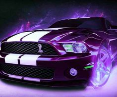 Purple Mustang Cobra!