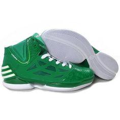 best service 52824 9419a Adidas Derrick Rose Adizero Dominate All Green