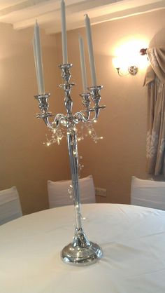Candelabra and pearl lights