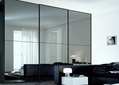 Jesse Maxi Square 2 Mirrored Sliding Door Wardrobe