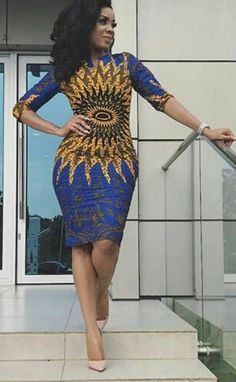 Unique and classy ankara gowns - DarlingNaija African Fashion Ankara, Latest African Fashion Dresses, African Print Dresses, African Print Fashion, Ethnic Fashion, African Dress, African Attire, African Wear, African Women