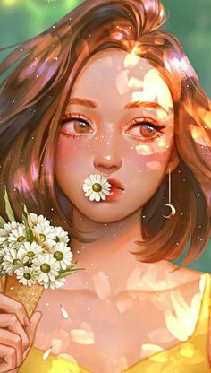 Girly Drawings, Anime Girl Drawings, Anime Art Girl, Cute Art Styles, Cartoon Art Styles, Cartoon Girl Drawing, Cute Cartoon Girl, Cartoon Drawings, Arte Sketchbook