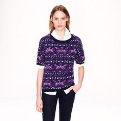 J.Crew - Collection cashmere Fair Isle back-zip sweater