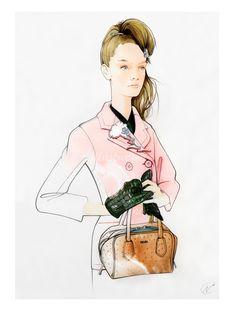 PRADA fashion illustration by Nuno DaCosta