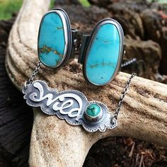 The Wild Series (sterling silver and Pilot Mountain turquoise) by UmberDove