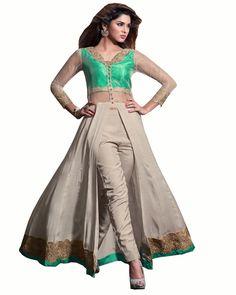 Designer Churidar Salwar Suit | Partywear Dress | Indian Salwar Leggings - _p_Designer Silk gown_/p_