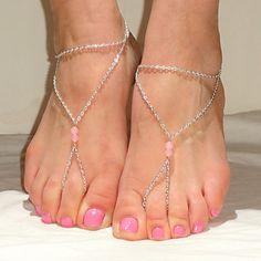 shixin® main de mode en alliage de perles pieds nus sandale (or, argent, bronze) (1 pc) – EUR € 2.75