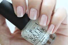 OPI Soft Shades Make Light Of The Situation Glitter Top Coat Nail Polish Swatch