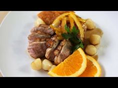 Duck a l'Orange French Recipe - Duck Breasts With Orange Sauce Duck Recipes, Orange Recipes, Chicken Recipes, Game Recipes, Sour Orange, Roasted Parsnips, Western Food, Christmas Dishes, French Food