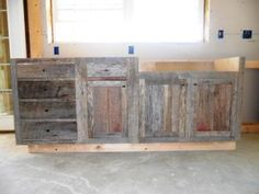 Barnwood kitchen cabinet build