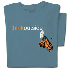 ThinkOutside Monarch T-shirt Dad To Be Shirts, T Shirts For Women, Butterfly Shirts, Monarch Butterfly, Colorful Shirts, Tees, Mens Tops, Cotton, Nature Inspired