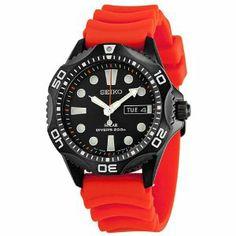 Seiko Solar Divers Black Dial Orange Rubber Mens Watch SNE245 Seiko. Save 46 Off!. $179.54. Band Color: Orange. Dial Color: Black. Model: SNE245. Water Resistant: 200 Meters. Buckle Clasp